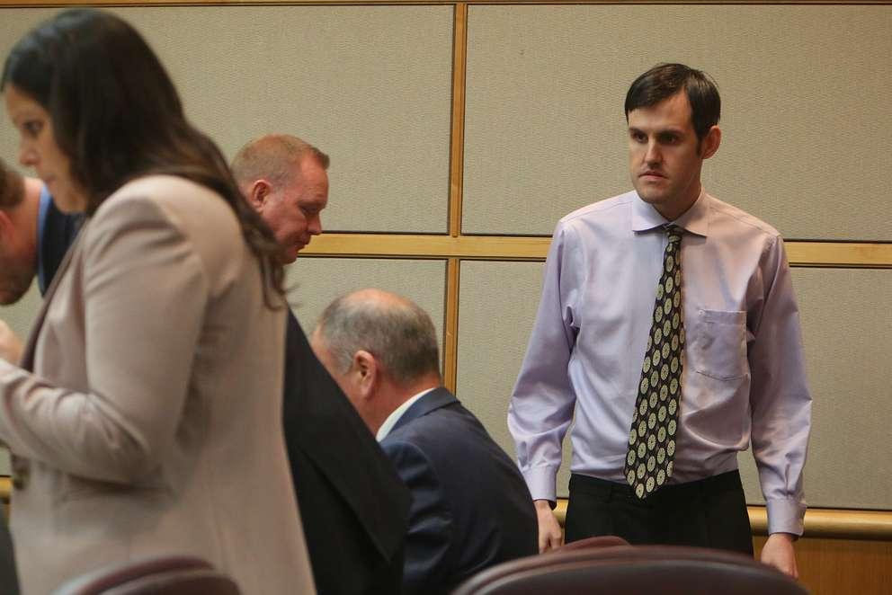 John Jonchuck returns to court after Tuesday's lunch break. [SCOTT KEELER | Times]