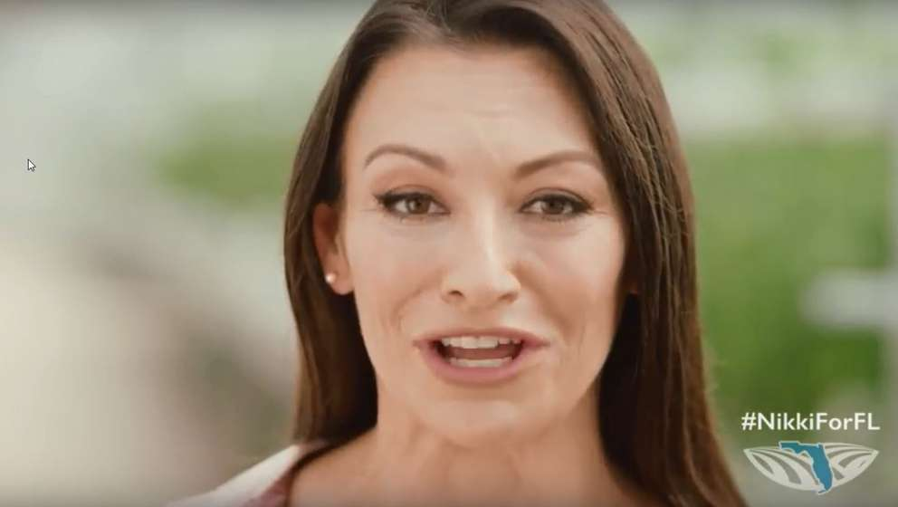 Nikki Fried, a lawyer from South Florida, speaks to the camera in a video announcing her campaign for Agriculture Commissioner. | YouTube screen capture