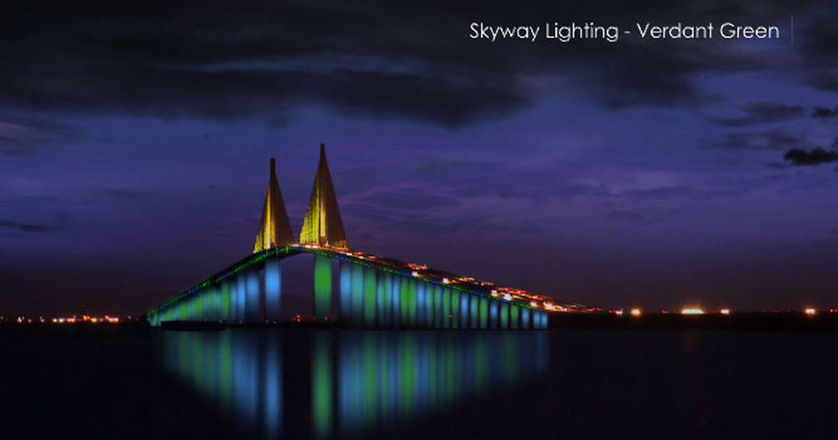 Sunshine Skyway Bridge Will Soon Light Up With Colored Led