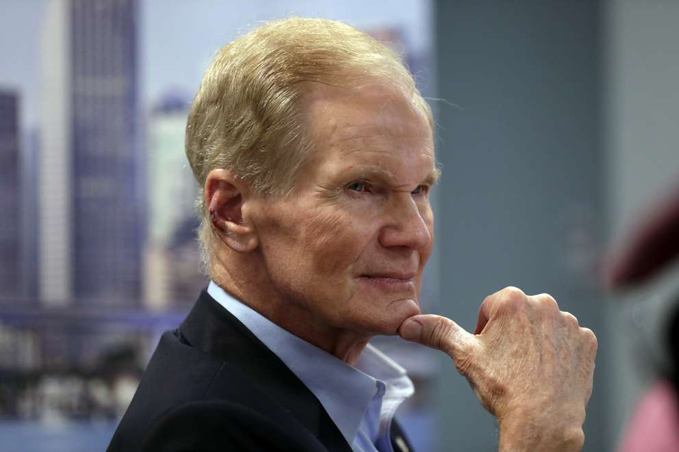 In this Aug. 6 photo Sen. Bill Nelson, D-Fla., listens during a roundtable discussion with education leaders from South Florida at the United Teachers of Dade headquarters in Miami. (AP Photo/Lynne Sladky,)