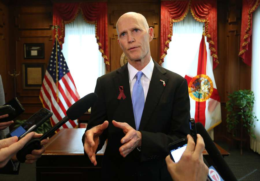 Gov. Rick Scott describes what can be done further in Florida to avoid more shootings like the one in Parkland at Marjory Stoneman Douglas High School. (SCOTT KEELER | Times)