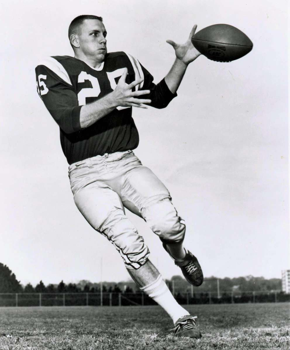 T.K. Wetherell, former FSU president, during his days playing football for the Seminoles. Credit: Florida State University photo LABPREP