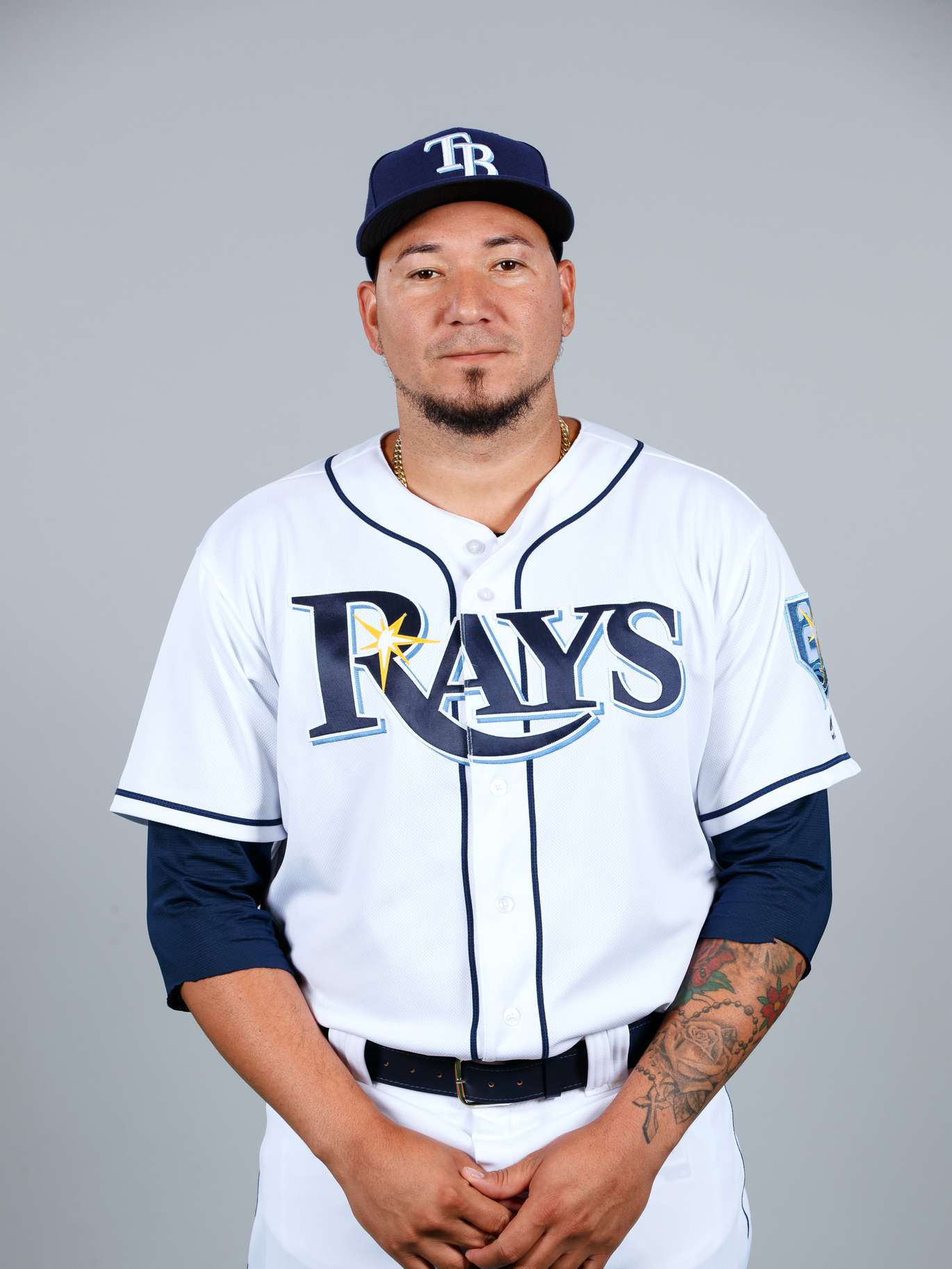 19. Jesus Sucre, c, No. 45: Started 50 games in '17, showing powerful bat and cannon arm; may get slightly less this time season with Ramos healthy.