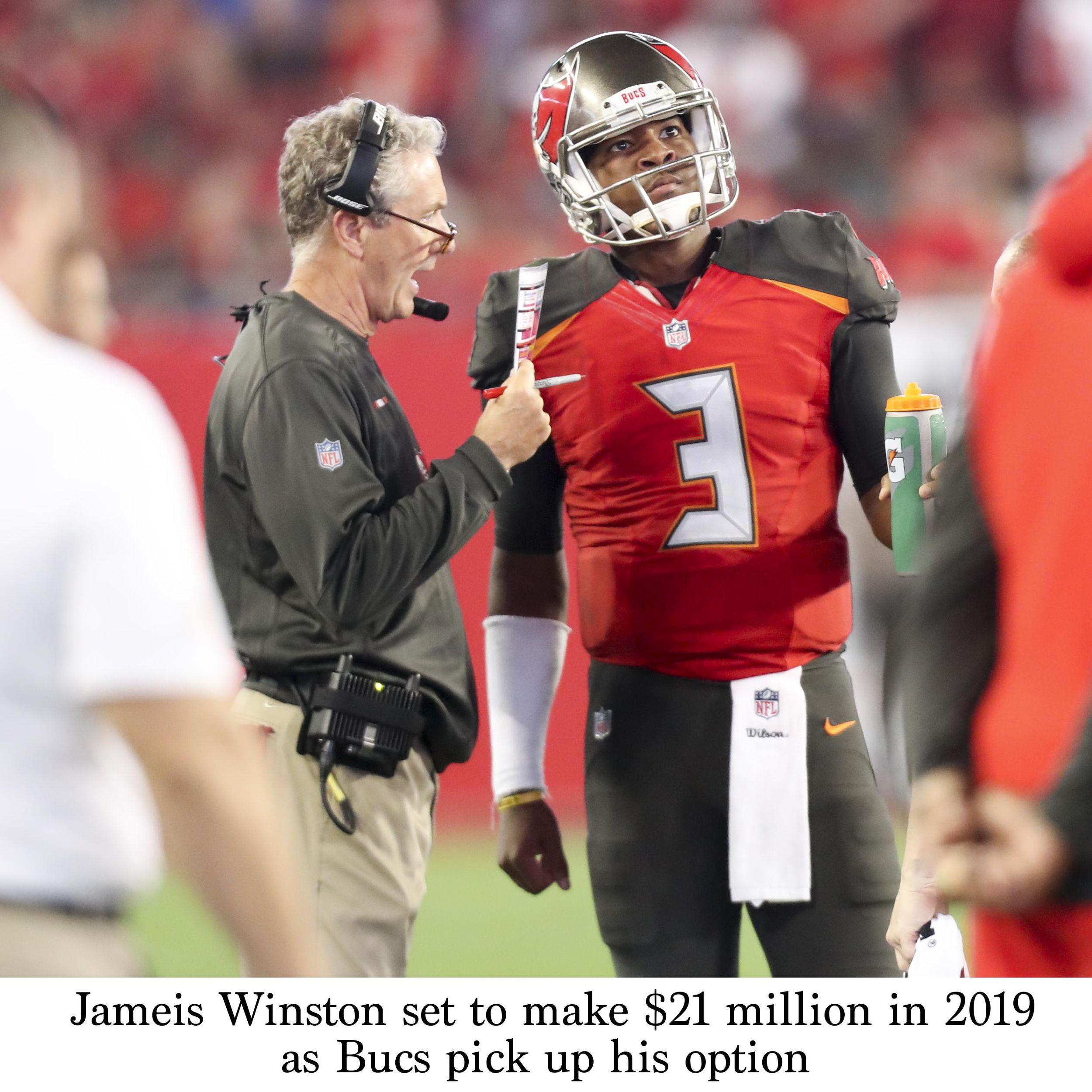 Jameis Winston set to make $21 million in 2019 as Bucs pick