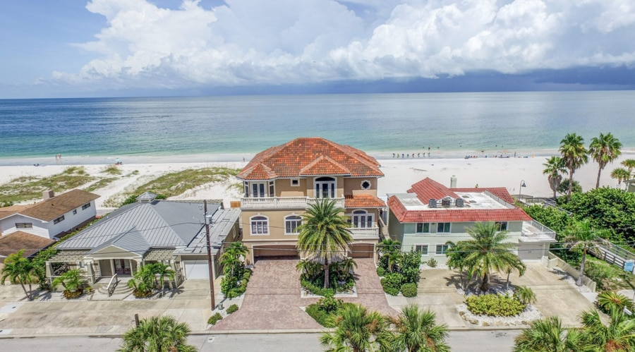 This gulf-front home on Clearwater Beach sold for $3.4 million in March. [Courtesy of Shannon Herod/Tour Factory]