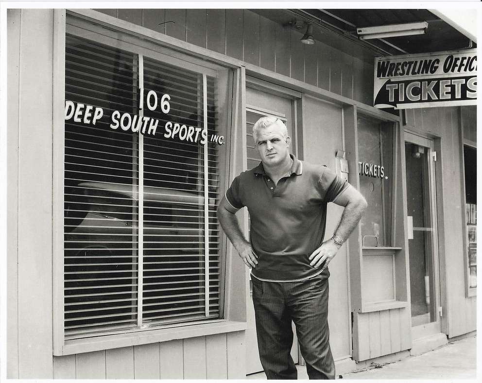 Eddie Graham stands outside the Sportatorium at 106 N Albany Ave. [Times files]