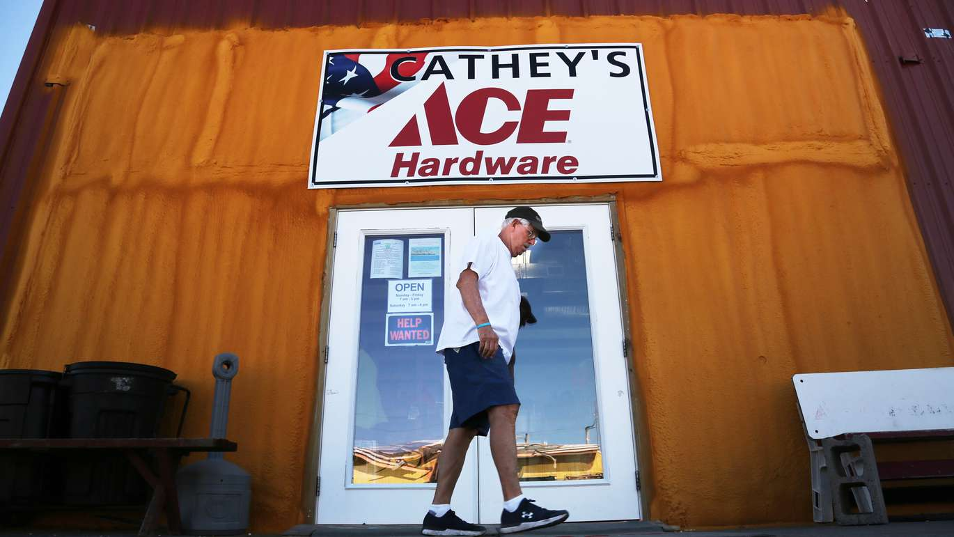 Mexico Beach Mayor Al Cathey leaves his Cathey's Ace Hardware store in downtown Mexico Beach. (DOUGLAS R. CLIFFORD   Times)