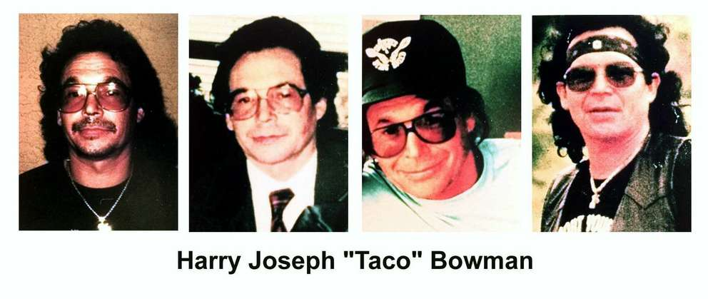 Harry 'Taco' Bowman had declared innocence on charges he ordered the 1982 murder of an Outlaws member and the 1991 murder of the president of a rival club, the Warlocks. [AP file photo | FBI]