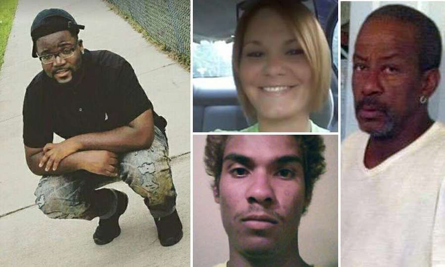 The four Seminole Heights shooting victims: Benjamin Mitchell, 22, left; Monica Hoffa, 32. top middle; Anthony Naiboa, 20, bottom middle; and Ronald Felton, 60.