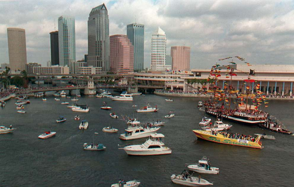 The 1995 Gasparilla Pirate Invasion. [Times archives]