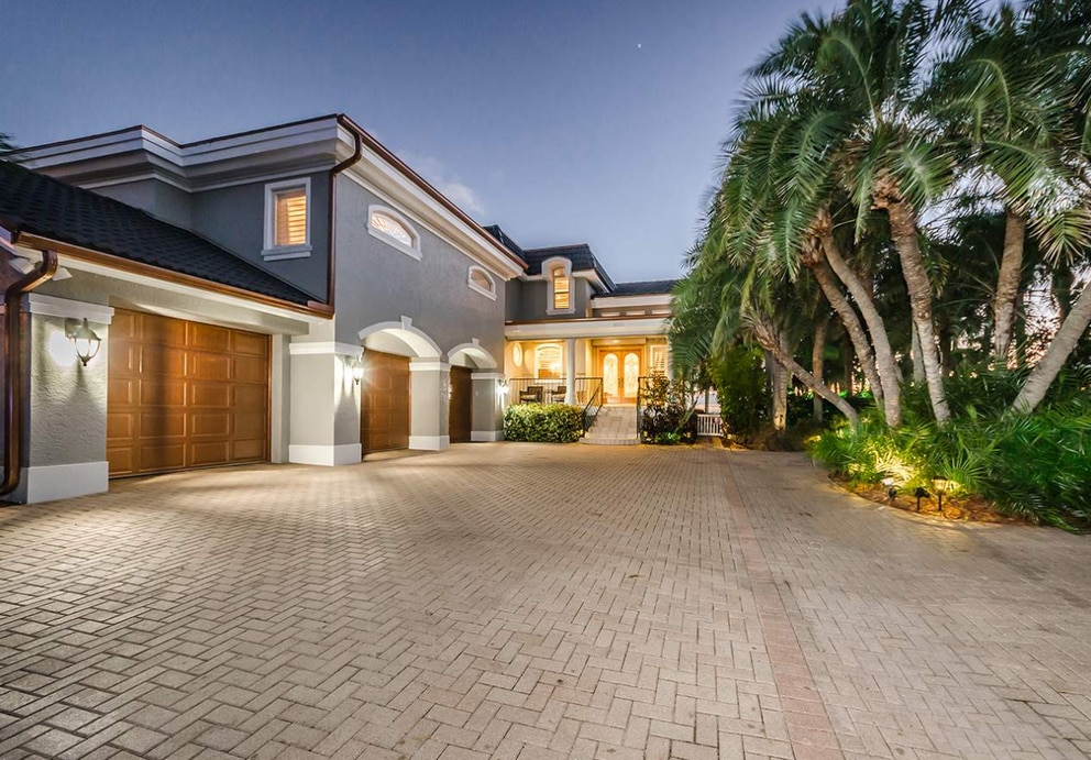 This gulf-front home in Redington Beach sold in October 2017 for $3.425 million. [Courtesy of Century 21]