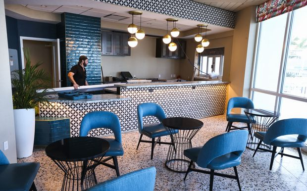 A look at the new St. Pete Social food bar in the newly renovated lobby of the Bellwether Beach Resort.