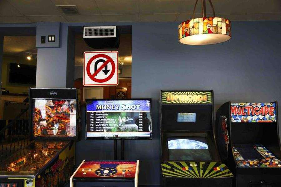 Right Around the Corner Bar in St. Petersburg has arcade machines as well as classic consoles set up around the bar. Mario Kart on the Nintendo 64 is a popular choice in the back room. [Times Files]