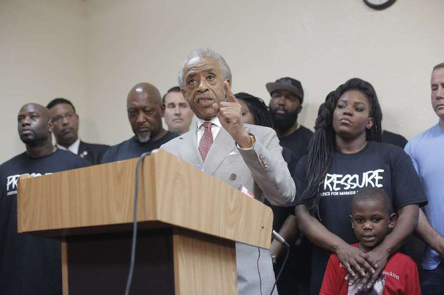 Civil rights leader Rev. Al Sharpton speaks during a press conference to protest the killing of Markeis McGlockton on Aug. 5. OCTAVIO JONES | Times