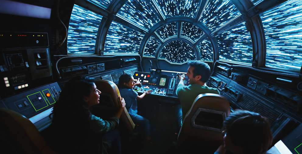 Inside Millennium Falcon: Smugglers Run, Disney guests will take the controls in one of three unique and critical roles aboard the fastest ship in the galaxy when Star Wars: Galaxy's Edge opens May 31, 2019, at Disneyland Resort in California and Aug. 29, 2019, at Walt Disney World Resort in Florida. Courtesy of Disney Parks.