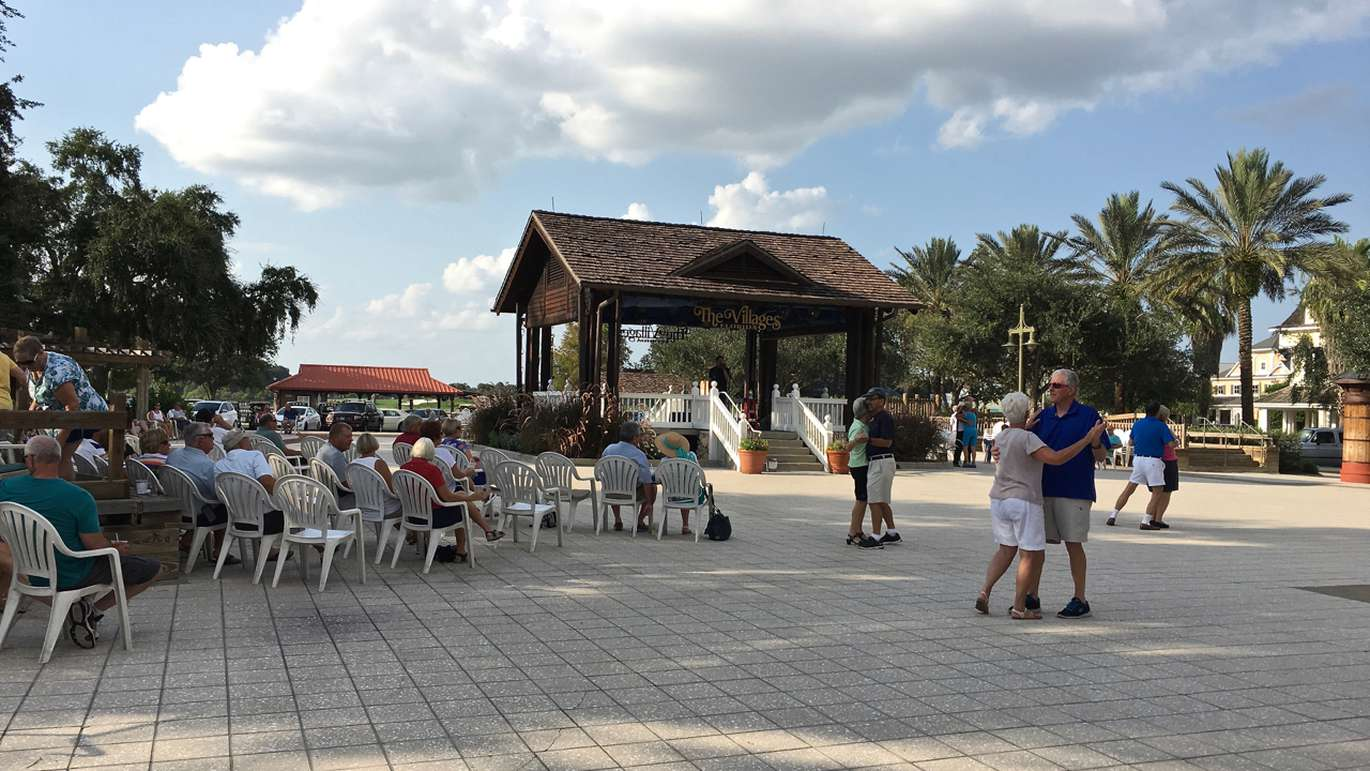Dancing on the square in The Villages. (Alex Leary | Times)