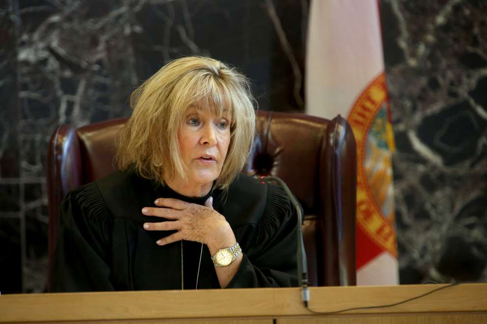 Pinellas-Pasco circuit court judge Chris Helinger gives instructions to potential jurors. [SCOTT KEELER | Times]