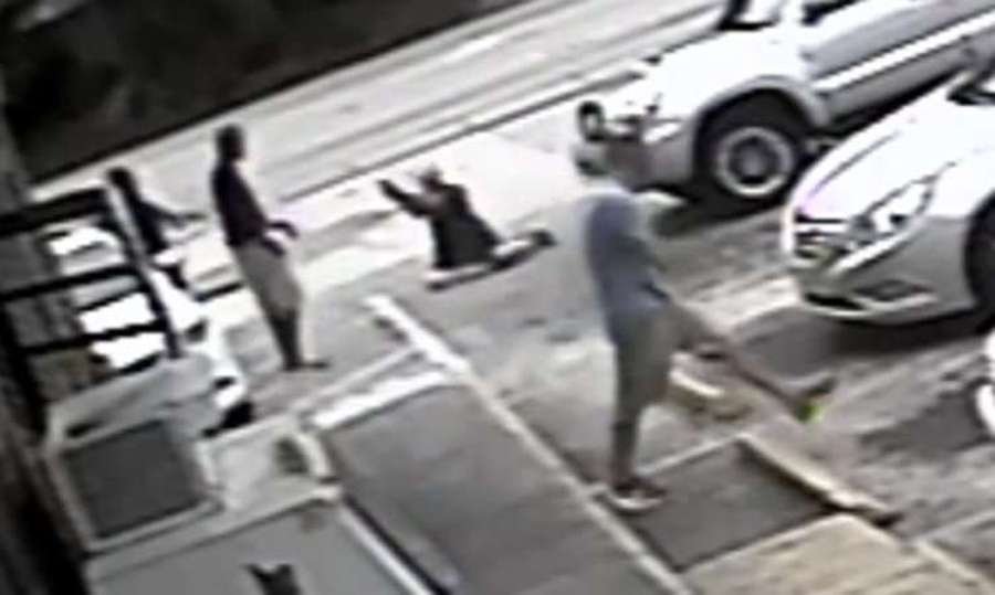 Surveillance video apparently showed the shooting of Markeis McGlockton by Michael Drejka. [Courtesy Pinellas County Sheriff's Office]