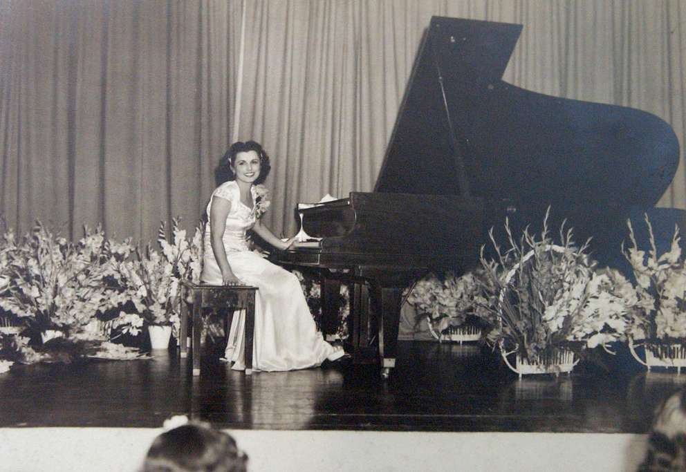 This photo of Adela Gonzmart in Havana was taken in 1946. It was on display at the Ybor City Museum in an exhibit titled