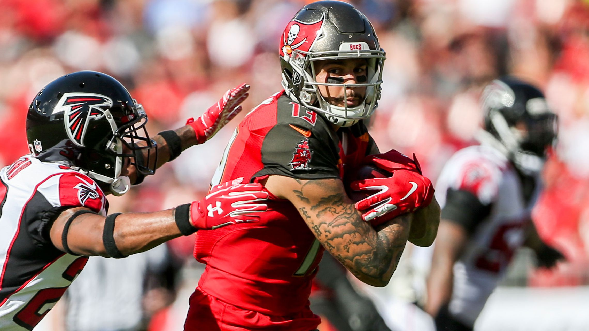 Bucs Falcons Mike Evans Chris Godwin Pair Up For Record Setting Day