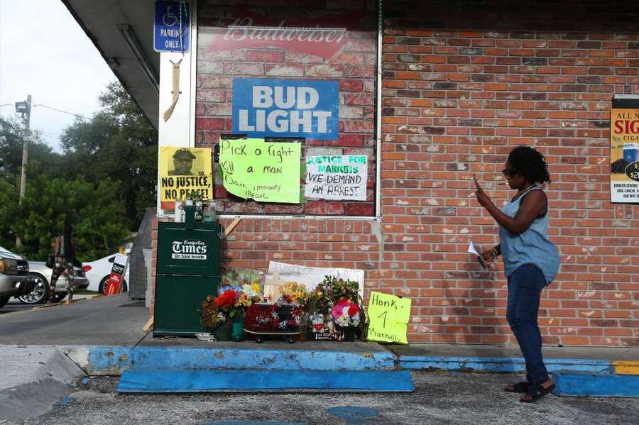 Desseri McCray, of Clearwater, stops by the Circle A Food Store on the day Michael Drejka was arrested in the shooting of Markeis McGlockton. DOUGLAS R. CLIFFORD | Times