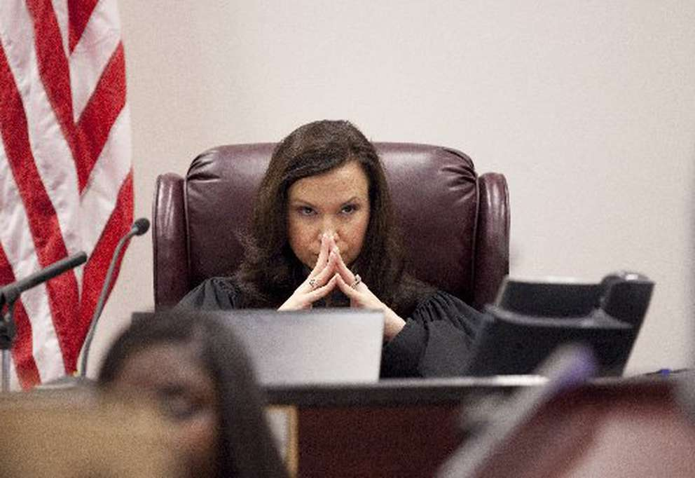 Former Hillsborough Circuit Judge Ashley Moody listens during a 2012 trial. [WILLIE J. ALLEN JR. | Times]