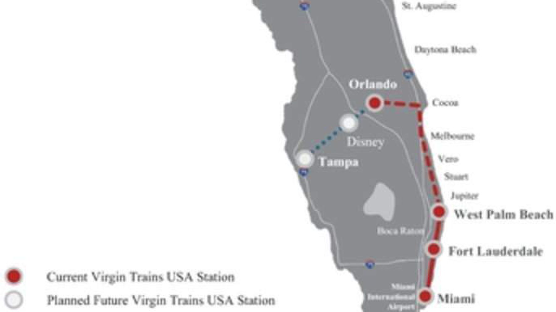 Virgin will be the fastest train ever in the southern U.S. ... on melbourne fl, brevard county florida, at the beach melbourne florida, map of florida, melbourne palm bay florida, melbourne florida tourism, south beach vero florida, melbourne international airport florida, paradise beach melbourne florida, melbourne city, east coast beaches in florida, melbourne florida florida, beaches near melbourne florida, melbourne florida stand up paddle board, bal harbour mall florida,