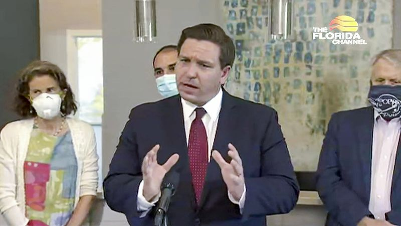 Ron DeSantis predicts coronavirus outbreak in Central Florida will improve in the next month