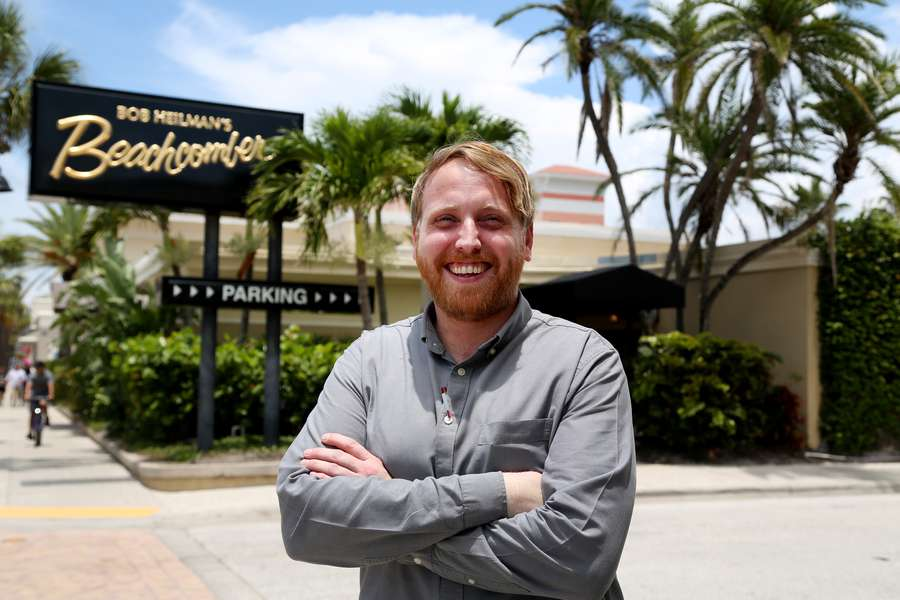 Bobby Heilman of Bob Heilman's Beachcomber said the restaurant was the first Clearwater Beach establishment to be certified Ocean Friendly for their efforts in reducing single-use plastics. The 70-year-old family owned restaurant has gone beyond the minimum standards, changing the way they operate to eliminate straws, use only biodegradable coasters and other moves. Even the stick that goes in your steak is biodegradable. (DOUGLAS R. CLIFFORD | Times )