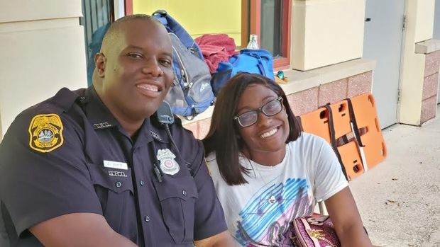 """Middleton High student Dava Leeks wrote a letter of support for Delvin White in hopes of helping him get back his job as school resource officer. """"I can't remember a time he turned any of us away without trying to help,"""" Leeks wrote."""