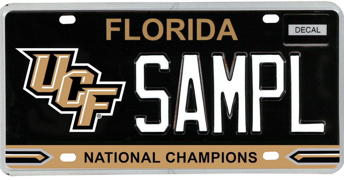 A license plate to honor UCF as national champions? That\'s the idea ...