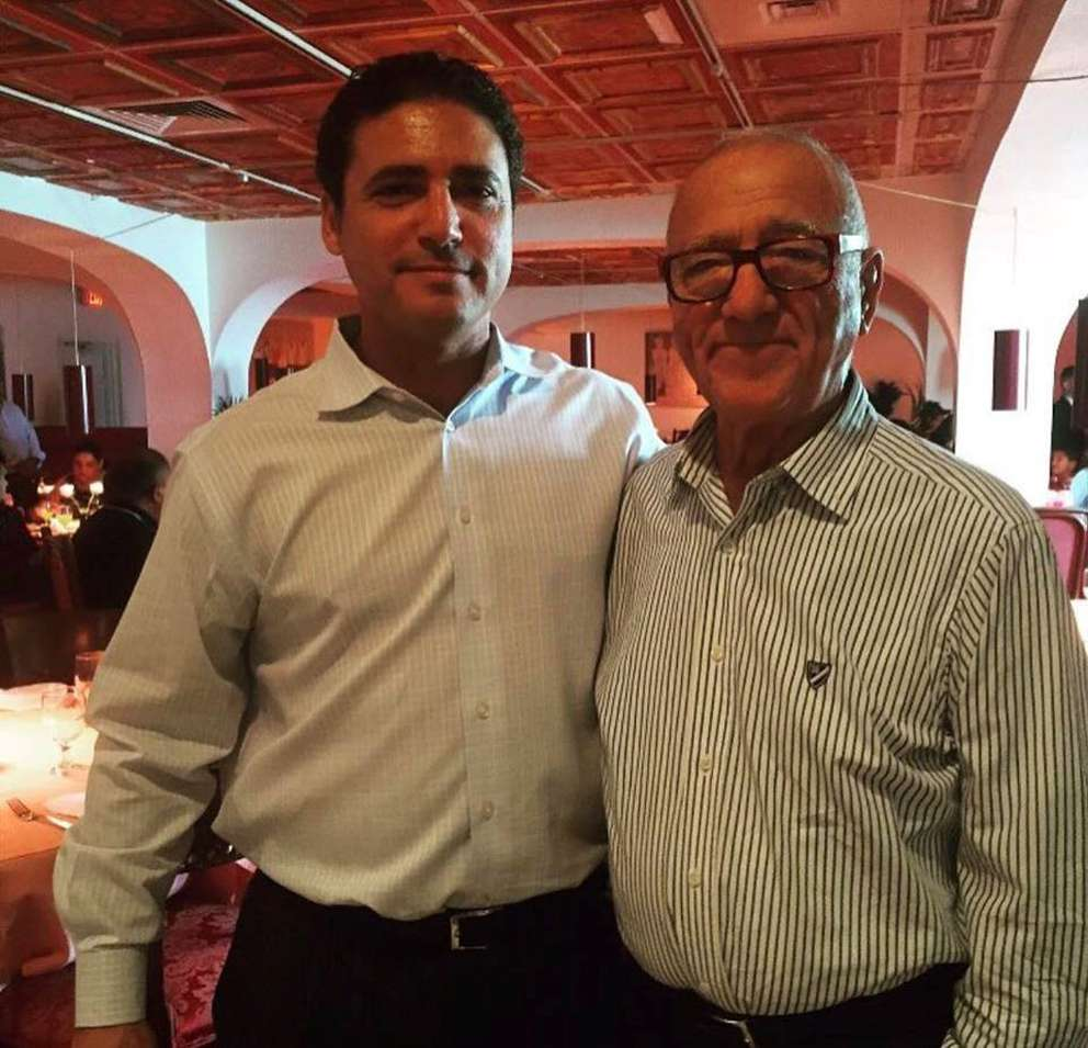 Gino Tiozzo and his father, Guido, at Donatello, which the younger man now runs.
