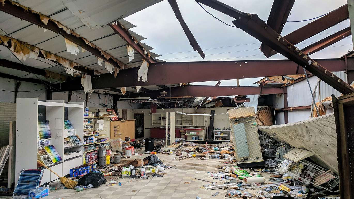 The Ace hardware store in Mexico Beach remains in a suspended state of destruction on Dec. 9, two months after Hurricane Michael made landfall Oct. 10 near Mexico Beach, with top sustained winds of 155 mph. (DOUGLAS R. CLIFFORD | Times)