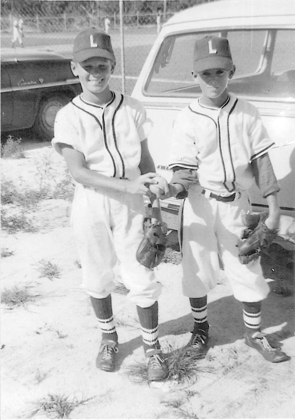 Bill Nelson, left, with his childhood friend, Kim Hammond, who would go on to be a star quarterback at Florida State, played professionally and became a judge in Flagler County. He died in July 2017 at age 72. (Courtesy of Bill Nelson)
