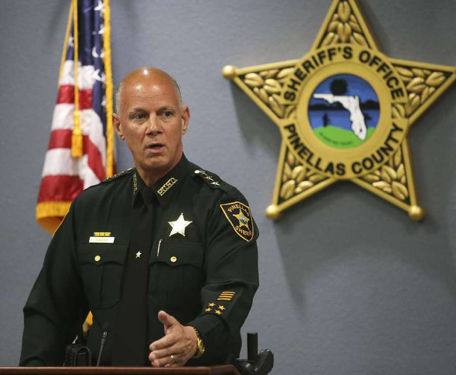 Pinellas Sheriff Bob Gualtieri discuss the controversial shooting of Markeis McGlockton during a press conference July 31. DIRK SHADD | Times