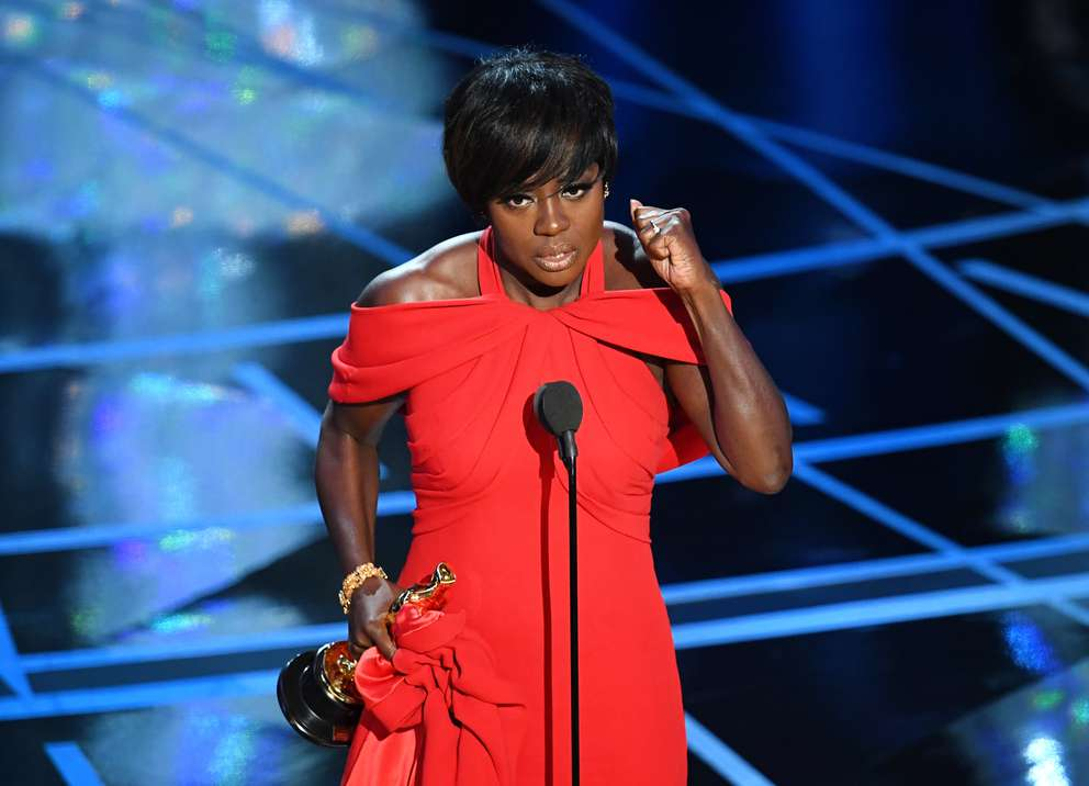 Viola Davis accepts the best supporting actress Oscar for 'Fences' at the 89th Annual Academy Awards at Hollywood & Highland Center on February 26, 2017 in Hollywood, California. (Kevin Winter/Getty Images)