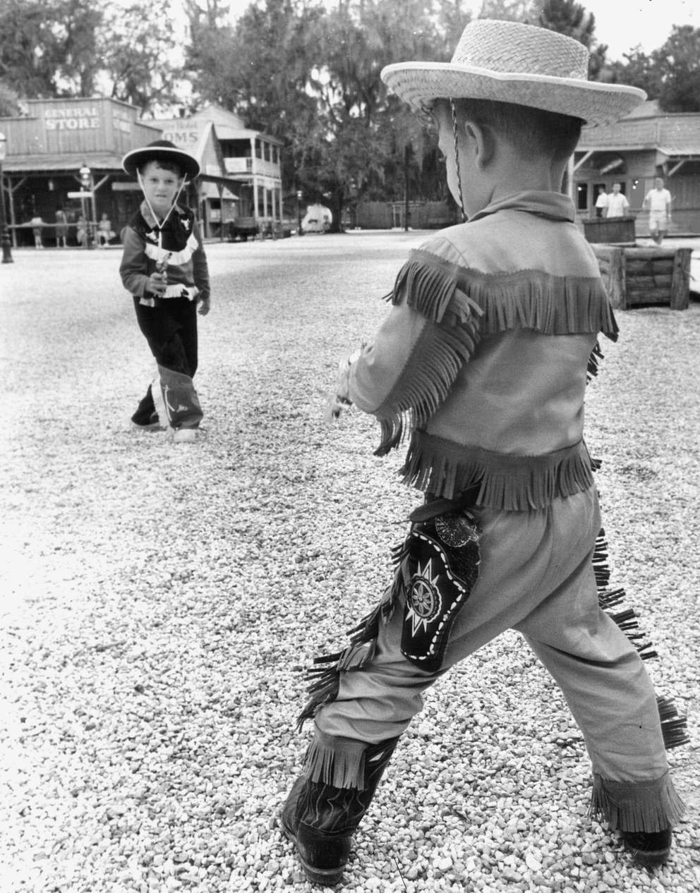 Costumes and shootouts were regular occurrences at the Six Gun Territory attraction. Times (1964)