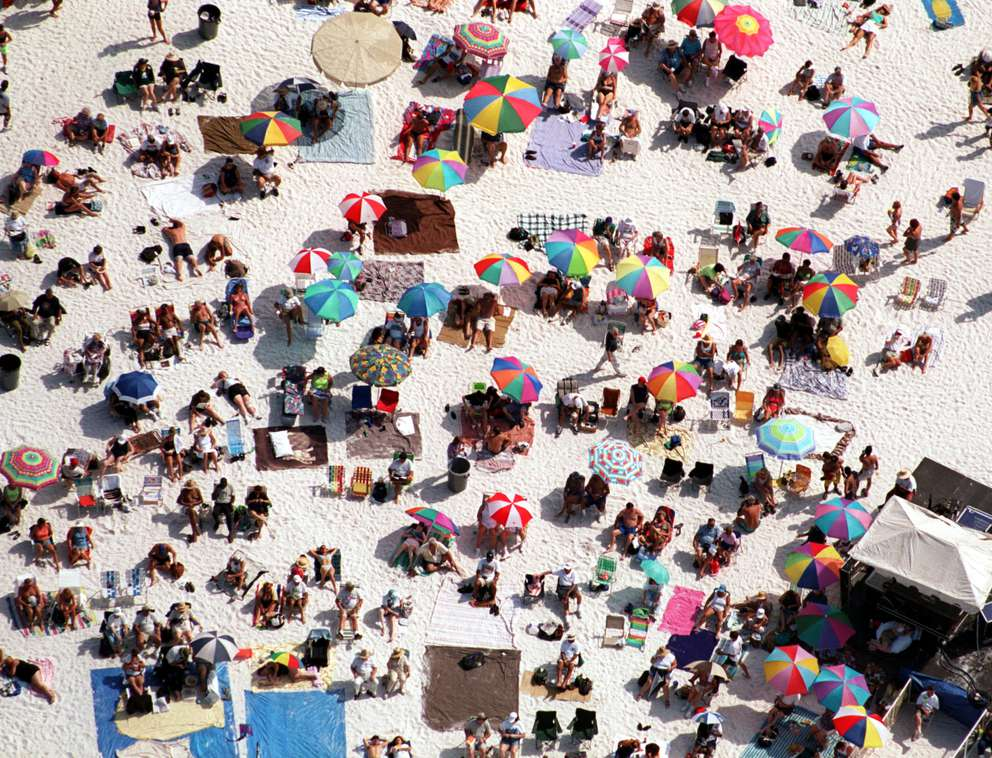 Aerials taken on the beach next to Pier 60 in Clearwater. Times (1999)