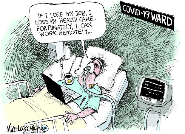 Cartoon – Working Remotely Today | HENRY KOTULA