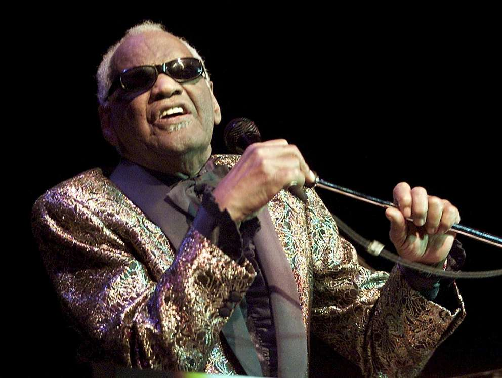 Music legend Ray Charles performs in Zurich, Switzerland. [Franco Greco | AP]