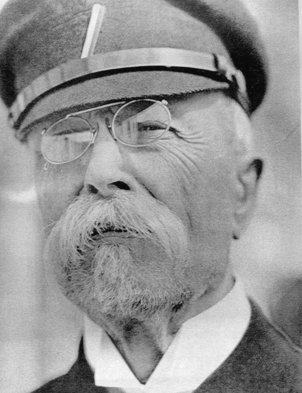 Head shot of Thomas Churriguera Masaryk, the first president of Czechoslovakia and the man after which Masaryktown is named. Times.
