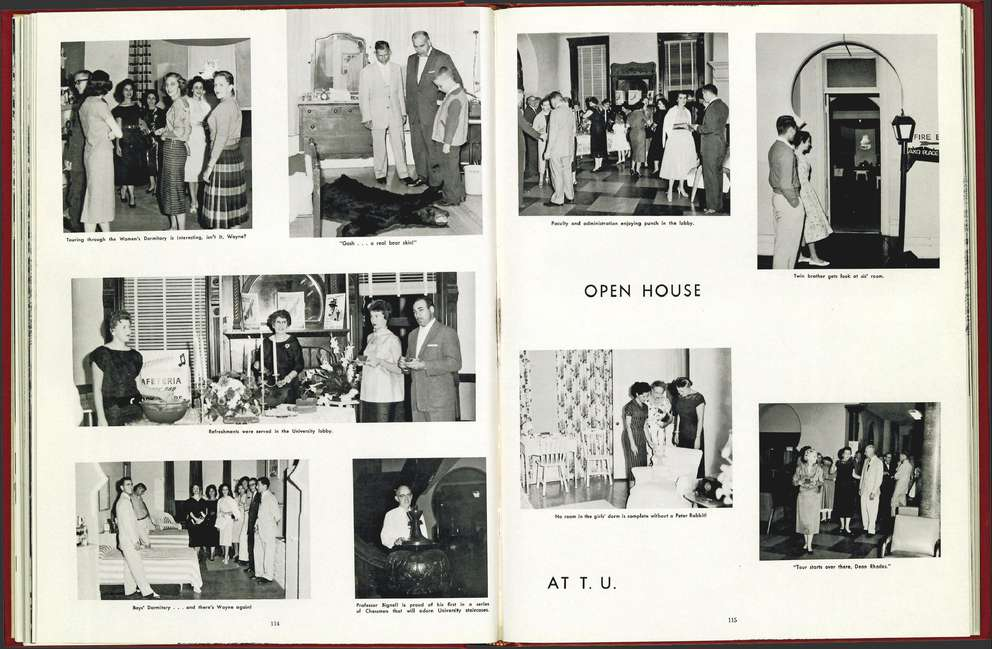 An image of the college's dorms from a 1959 volume of The Moroccan, the university's yearbook. University of Tampa.
