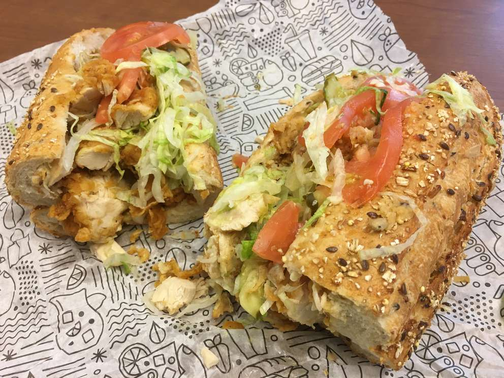 Publix chicken tenders subs are messy, gargantuan, delicious ... and on sale this week. [CARL LISCIANDRELLO | Times]