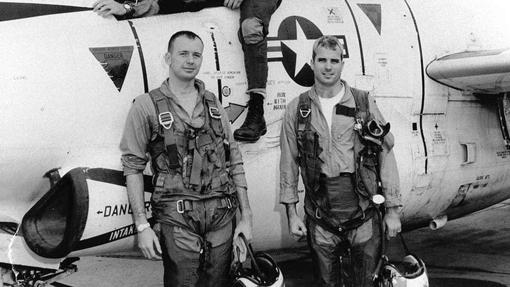 John McCain at right. (Library of Congress)