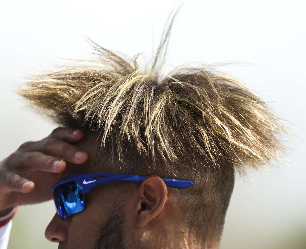 Second baseman Lourdes Gurriel Jr. (13) on the field before the Tampa Bay Rays spring training game against the Toronto Blue Jays on March 12, 2019 at Dunedin Stadium in Dunedin, Florida. [MONICA HERNDON | Times]