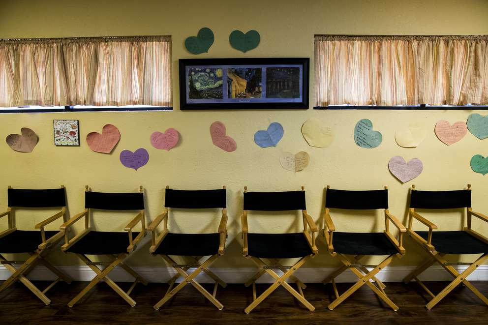 When patients write notes on paper hearts in the counseling room, they can take home free emergency contraception, such as Plan B. In here, women learn about procedures and options.