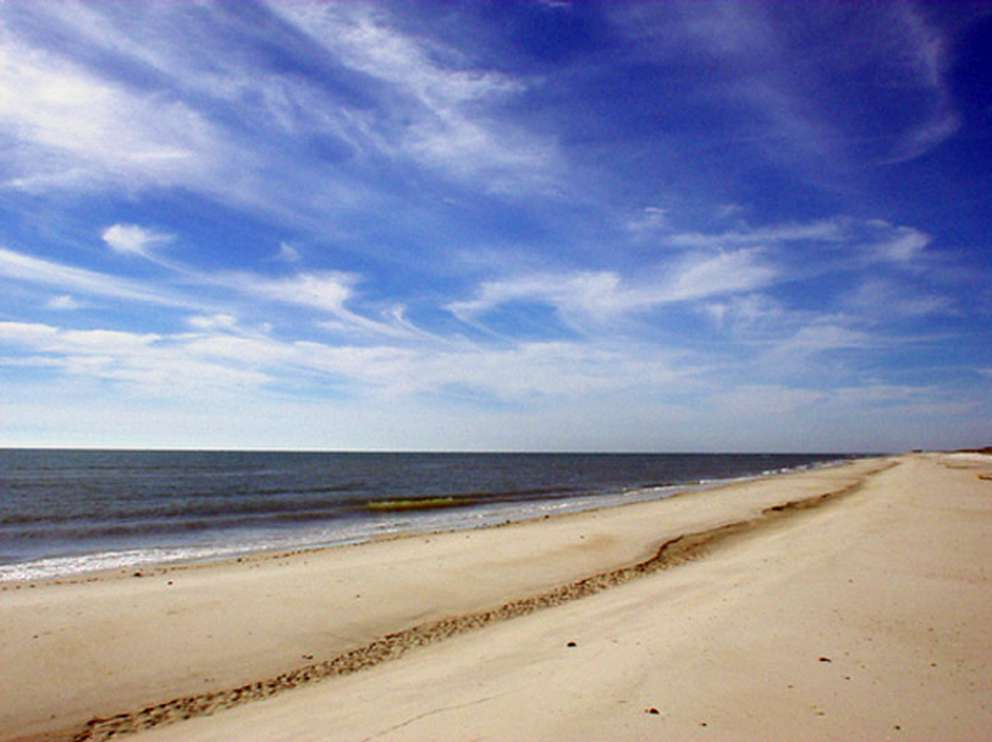 The east end of St. George Island is occupied by the 1,926-acre Dr. Julian G. Bruce St. George Island State Park. In 2011, its beaches were ranked number 6 in the nation by Dr. Beach. Photo from Florida State Parks
