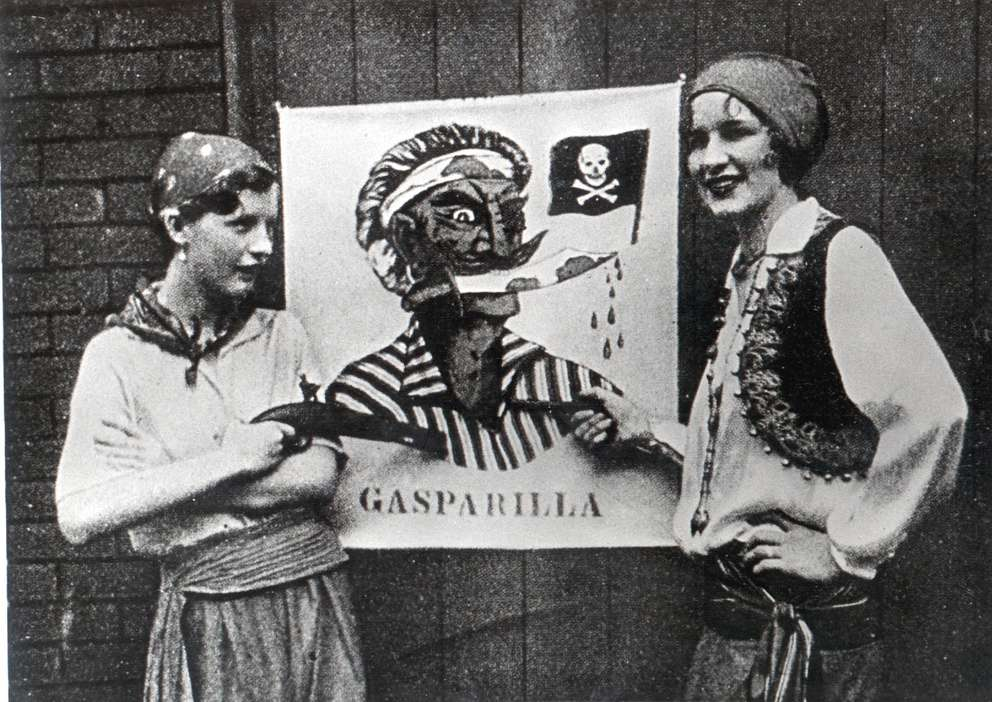 Posters promoted Gasparilla in the 1920s. [Times archives]