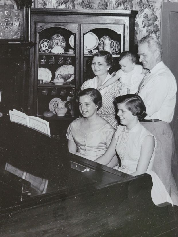 Mrs. Kollock and her sister grew up playing together. They appeared on television shows, including Arthur Murray's.