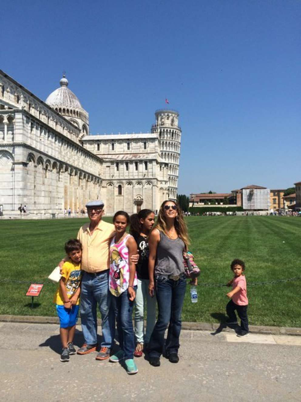 Guido Tiozzo had one son and four grandchildren. He's pictured here with family on a trip to Pisa, Italy. (Photo courtesy Gino Tiozzo)